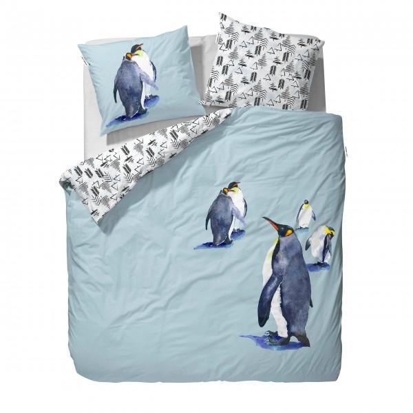 """Wende-Bettwäsche """"Pinguin"""" (Blau/Weiß-Schwarz)"""
