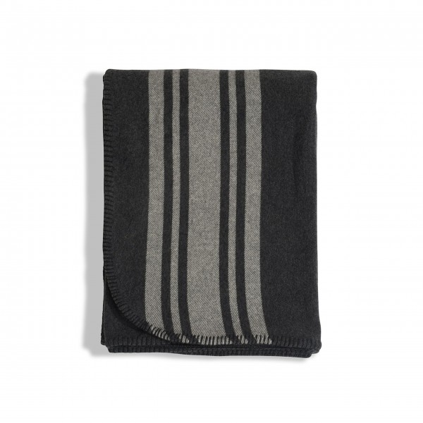 "Lexington Decke ""Striped Wool"" (Grau)"