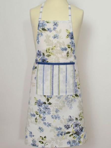 "Country Home Style Kinderschürze ""Iris"" (Streif/Blume) 40x60cm"