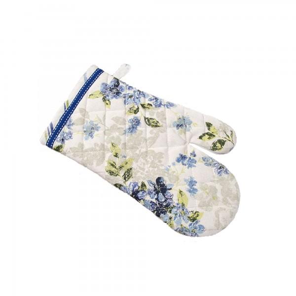 "Country Home Style Ofenhandschuh ""Iris"" (blau/weiß)"