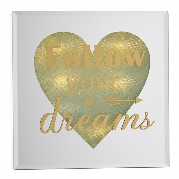 "Miss Etoile LED-Spiegelbox ""Follow your dreams"""