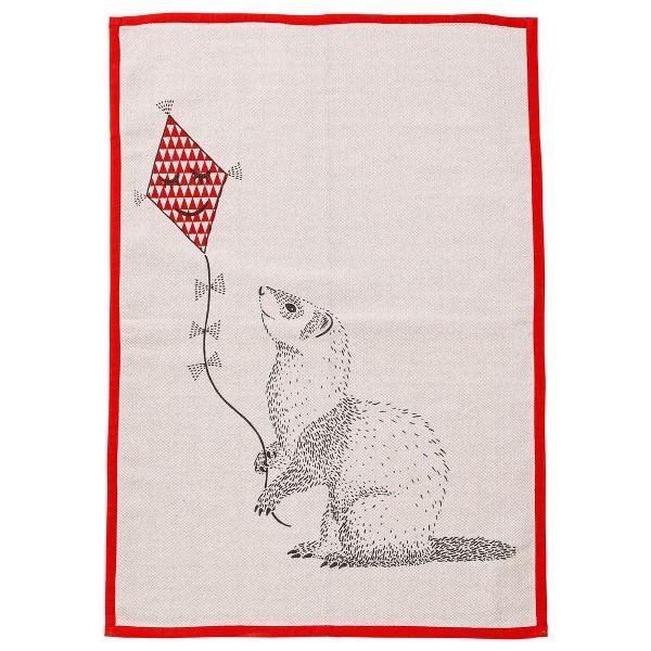 "Bloomingville Mini Kinderteppich ""Otter"" (Rosa/Rot)"