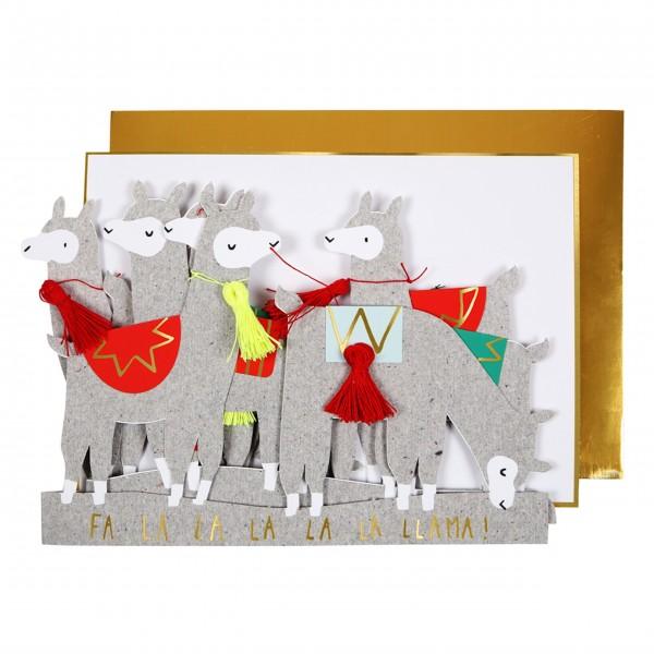 "Grußkarte ""Lamas"" von Meri Meri"