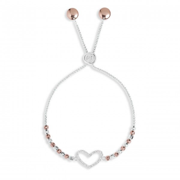 "Armband ""Heart"" von Joma Jewellery (Silber/Roségold)-1"