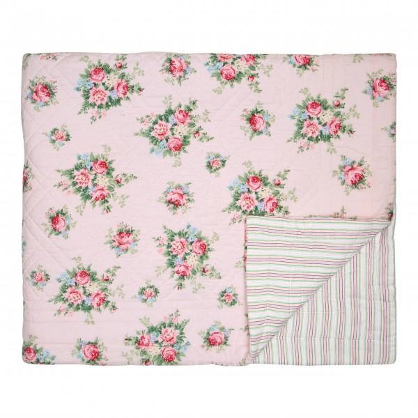 """GreenGate Quilt """"Aurelia"""" (Pale Pink) - 140 x 220 cm"""