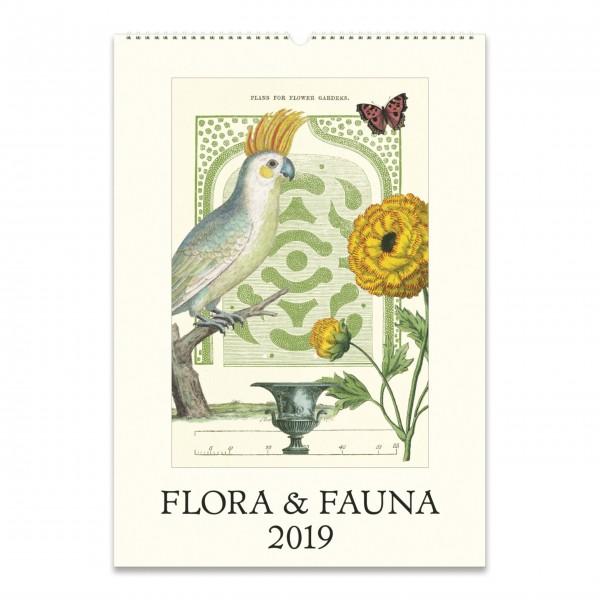 "Cavallini Wandkalender 2019 ""Flora & Fauna"""