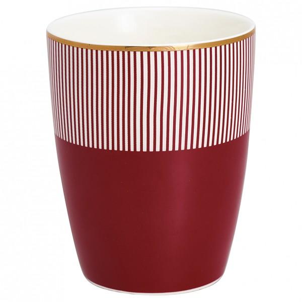 """GreenGate Latte Cup """"Corine"""" (Bordeaux) von Gate Noir"""