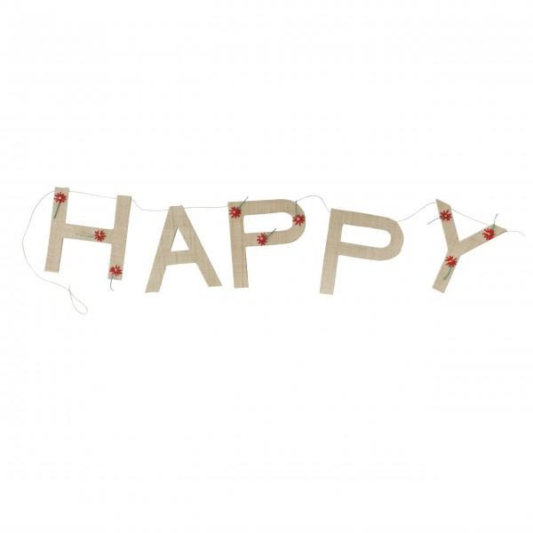 """Rice Girlande """"HAPPY-Cherry"""" (Braun)"""