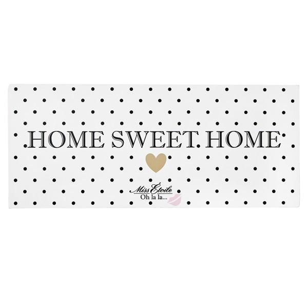 "Miss Étoile Metallschild ""Home Sweet Home"""