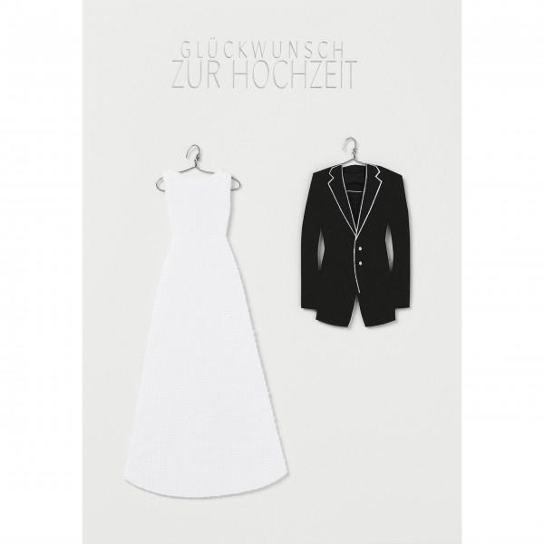 """Glückwunschkarte """"Glückwunsch zur Hochzeit"""" (Schwarz/Weiß) von räder Design"""