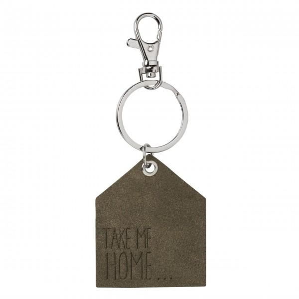 """Schlüsselanhänger """"Haus"""" (Take me home) grau von räder Design"""