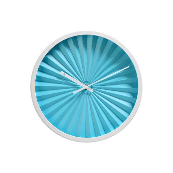 """Wanduhr """"FLORENCE"""" (Blau/Weiß) - Durchmesser 30cm von SOMPEX"""