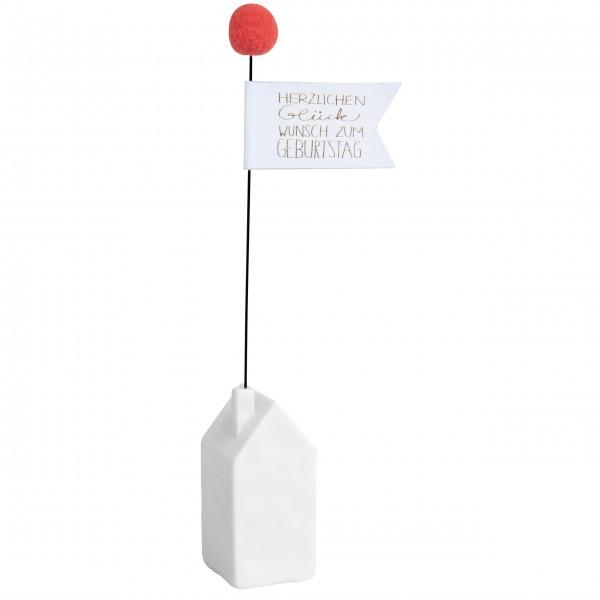 """Hauspost """"Herzlichen Glückwunsch - GIVING"""" von räder Design"""