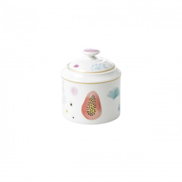 Rice Porzellan Zuckerdose (Weiß)