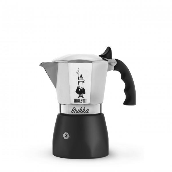 """Bialetti Espressokocher """"Brikka"""" - für 2 Tassen (Schwarz)"""