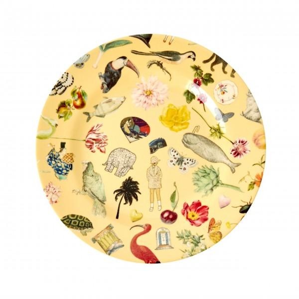 "Rice Melamin Teller ""Art Print"" (Creme)"