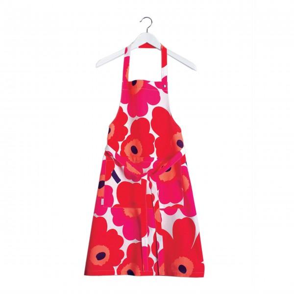 marimekko Küchenschürze mit roten Mohnblumen!
