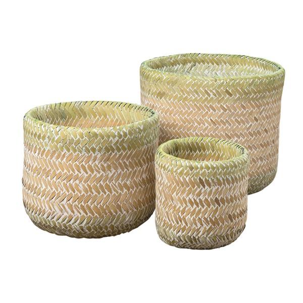 Chaos adé - mit den Körben aus Bambus im praktischen Set