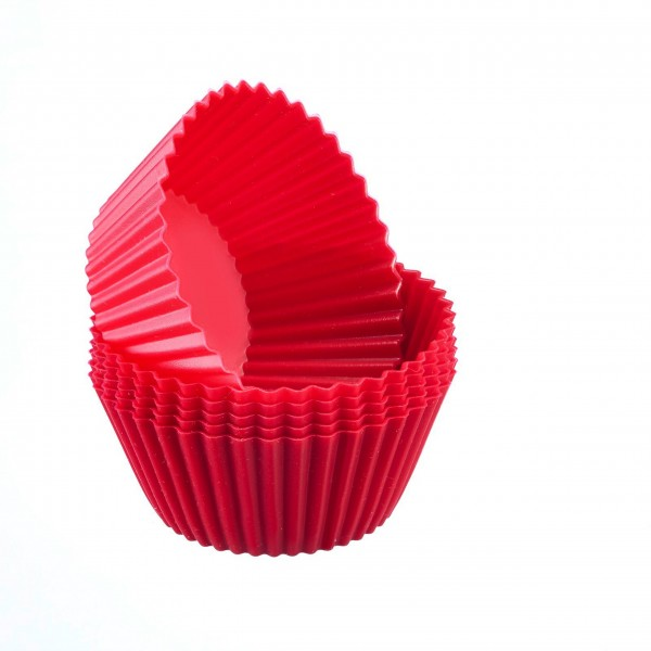Westmark Muffinformen aus Silikon im 6er Set (Rot)