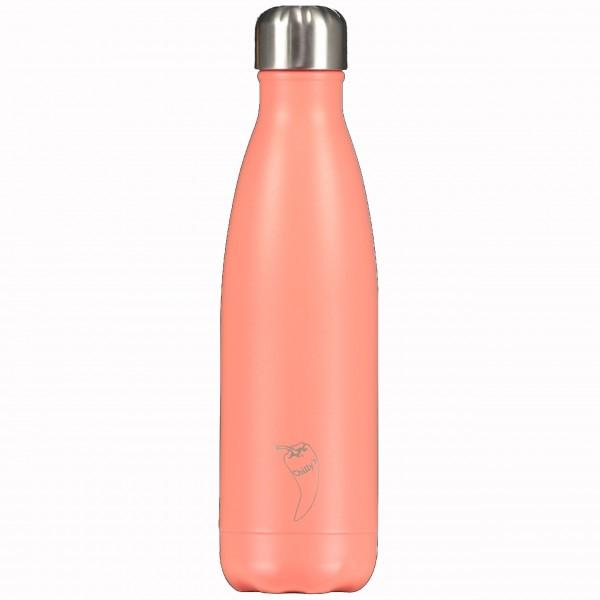 "CHILLY'S Bottle Isolierflasche ""Pastell Koralle"" - 500 ml (Orange)"