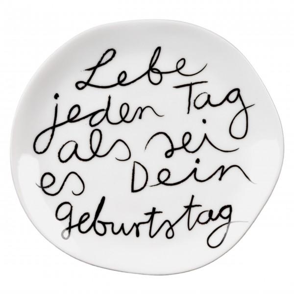 """Kleiner Teller """"Mix & Match"""" (Lebe jeden Tag) von räder Design"""