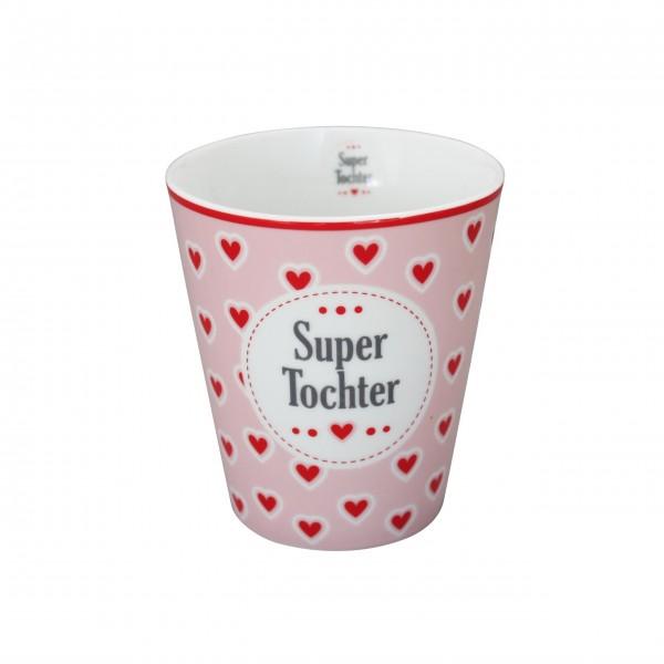 """Krasilnikoff - Happy Mug """"Super Tochter"""""""