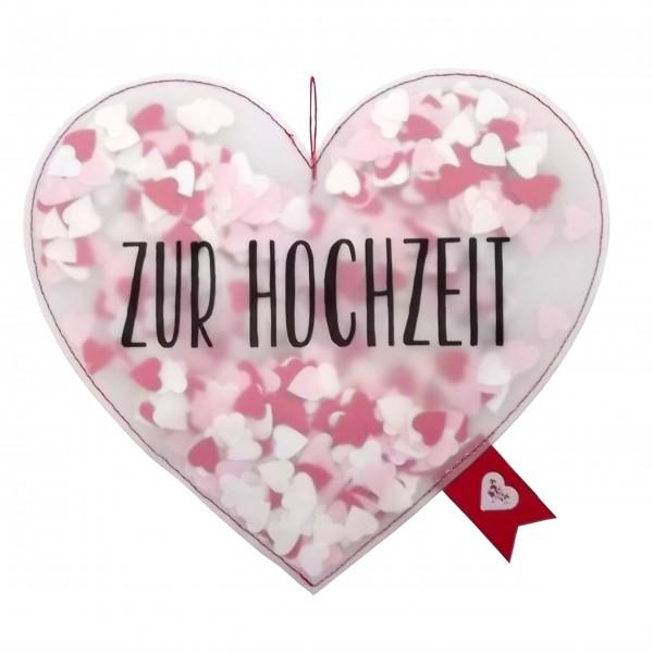 """Geschenkanhänger Konfetti """"Herz"""" (Zur Hochzeit) von Good old friends."""