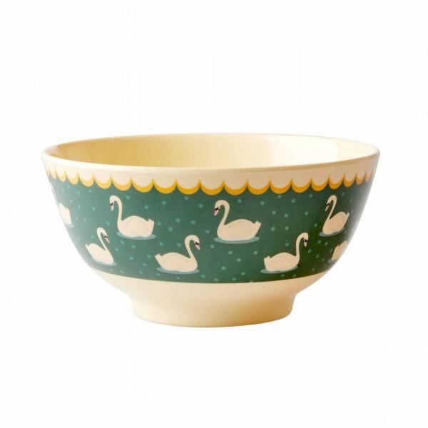 Rice Schüssel aus Melamin - im Schwanenprint