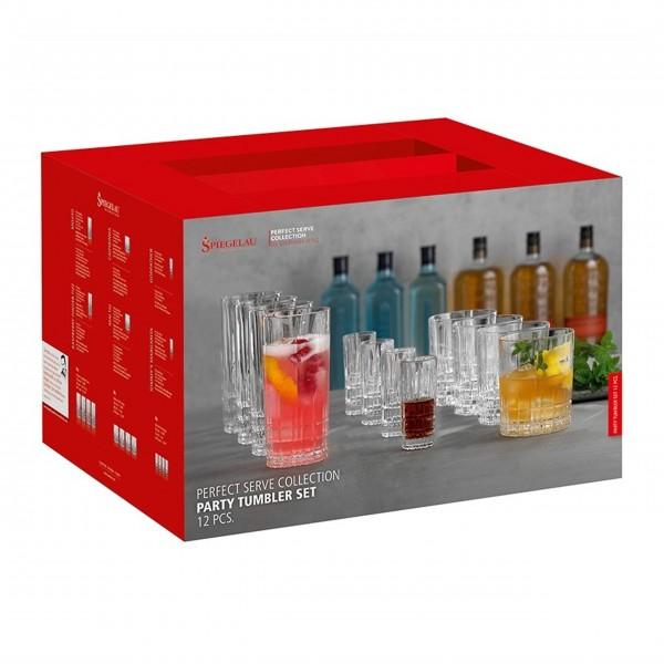 "Spiegelau Party Gläser Set ""Perfect Serve Collection "" - 12 tlg."