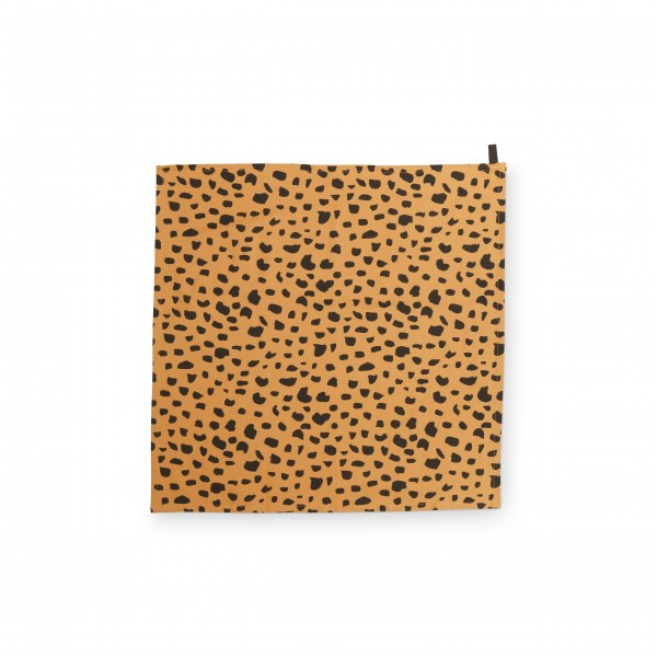 "FABIENNE CHAPOT Geschirrtuch ""Cheetah-Gepard"" (Braun/Schwarz)"