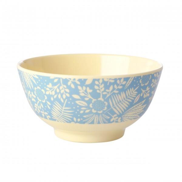 "Rice Melamin Schüssel ""Fern & Flower"" (Blau)"
