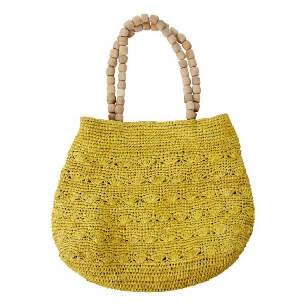 """Bast-Tasche """"Vibeke"""" (Yellow) von CURRY"""