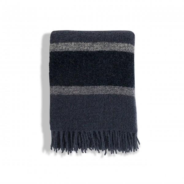"Lexington Überwurf ""Striped Wool"" (Blau)"
