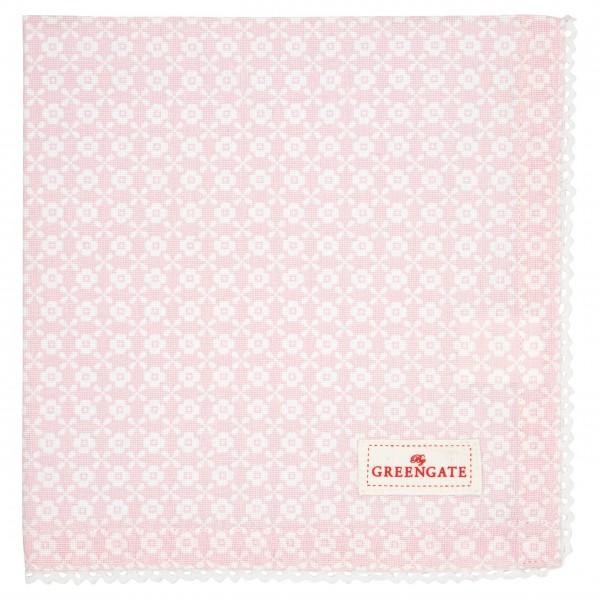 """Greengate Serviette mit Borte """"Helle"""" (Pale Pink)"""