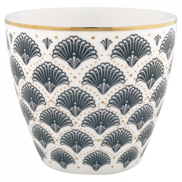 "Latte Cup ""Elvina"" (Grey) von Gate Noir by GreenGate"