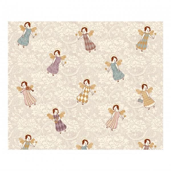 """Maileg Geschenkpapier """"Angels"""" (Beige) - 10 m"""