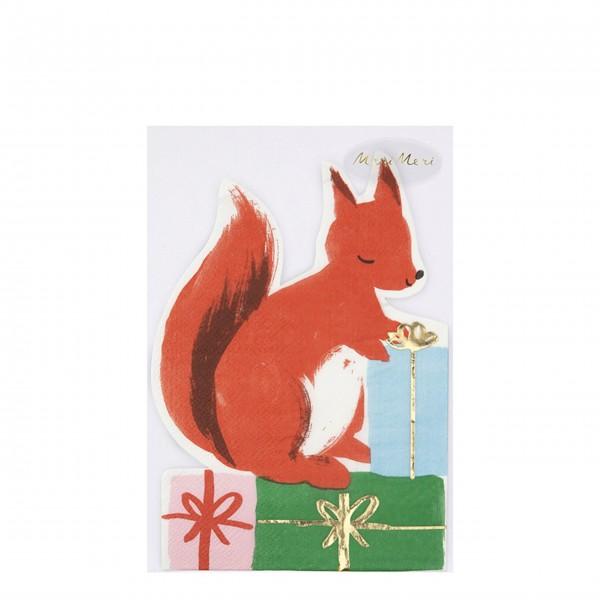 Servietten mit Eichhörnchen-Motiv von Meri Meri