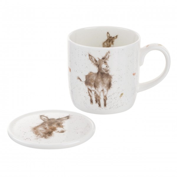 """Tasse mit Unterteller """"Esel"""" von Wrendale"""