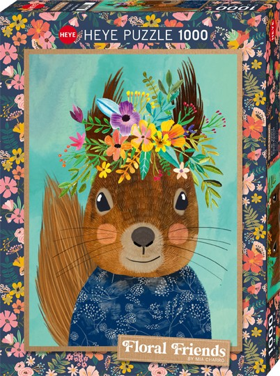 Puzzle Sweet Squirrel FLORAL FRIENDS, CHARRO Standard 1000 Pieces