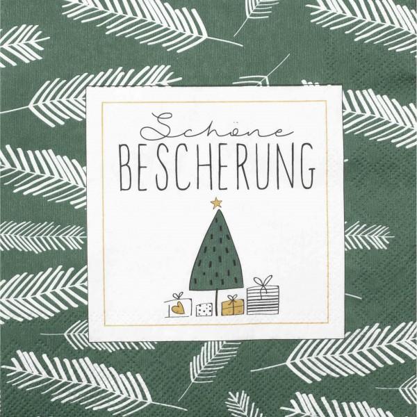 """Papierserviette """"DINING Schöne Bescherung"""" - 20 Stk.(Grün) von räder Design"""
