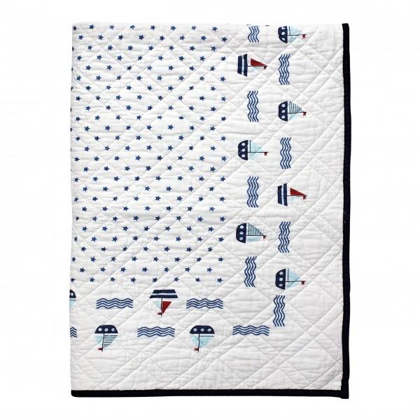 "GreenGate Kinder-Quilt ""Noah"" (White)"