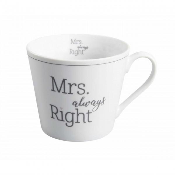 "Krasilnikoff Happy Cup ""Mrs always Right"""