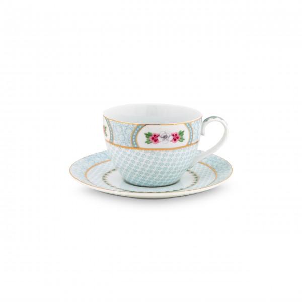 """Pip Studio Cappuccino Tasse mit Unterteller """"Blushing Birds""""-26-51004082-1"""