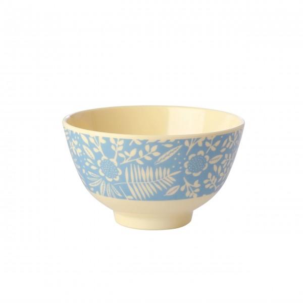 """Rice Melamin Schüssel """"Fern & Flower"""" - Klein (Blau)"""