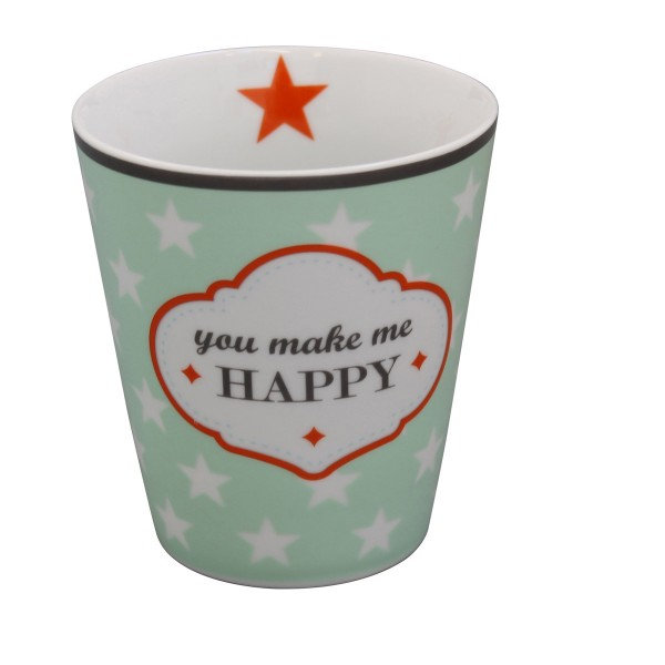 Kaffee rein, glücklich sein - Mit dem Keramikbecher von Krasilnikoff
