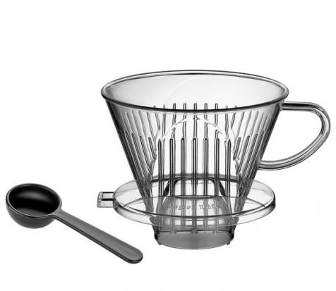 Cilio Kaffeefilter Acryl Größe 4 inkl. Messlöffel