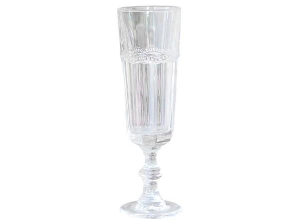 "Chic Antique Champagnerglas ""Antoinette"" mit Perlenkante"