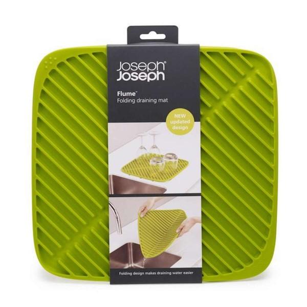 JosephJoseph Faltbare Abtropfmatte Flume (Grün) Groß