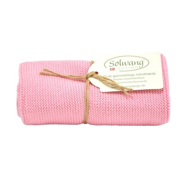 rosa Baumwolltuch für die Küche und das Badezimmer