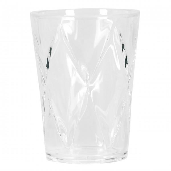 """Kantiges Wasserglas """"Harlekin"""" von Miss Étoile"""